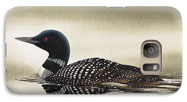 Loon In Still Waters Galaxy S7 Case by James Williamson