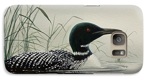 Loon Galaxy S7 Case - Loon Near The Shore by James Williamson
