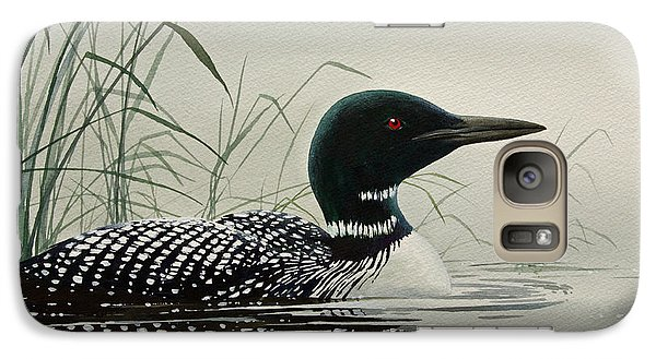 Loon Near The Shore Galaxy S7 Case by James Williamson