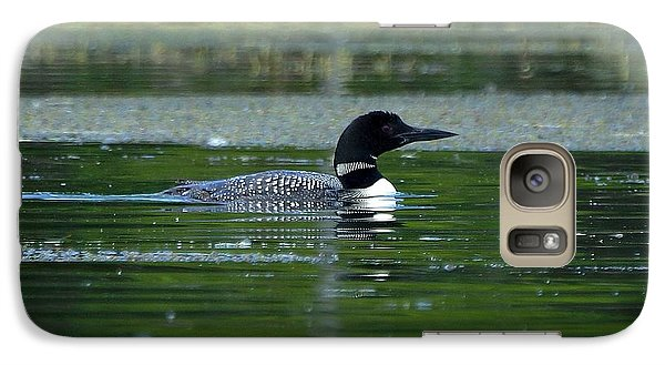 Galaxy Case featuring the photograph Loon On Indian Lake by Steven Clipperton