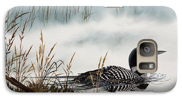 Loon Galaxy S7 Case - Loons Misty Shore by James Williamson