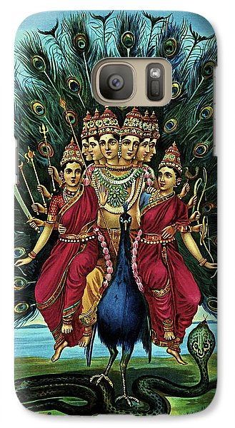 Galaxy Case featuring the digital art Lord Murugan by Raja Ravi Varma