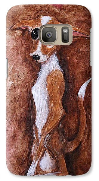 Galaxy Case featuring the painting Loretta Chihuahua Big Eyes  by Patricia Lintner