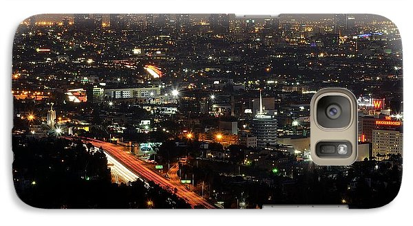 Galaxy Case featuring the photograph Los Angeles Lights by Paul Noble
