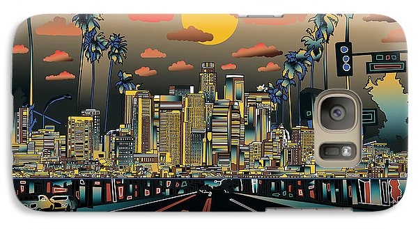 Los Angeles Skyline Abstract 2 Galaxy S7 Case