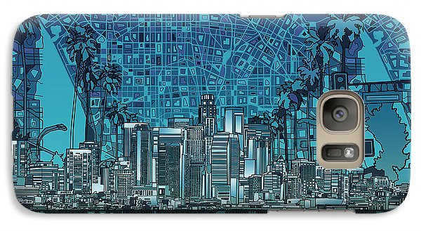 Los Angeles Skyline Abstract 5 Galaxy S7 Case