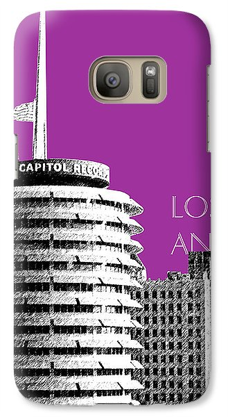 Los Angeles Skyline Capitol Records - Plum Galaxy Case by DB Artist