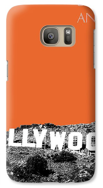Los Angeles Skyline Hollywood - Coral Galaxy S7 Case