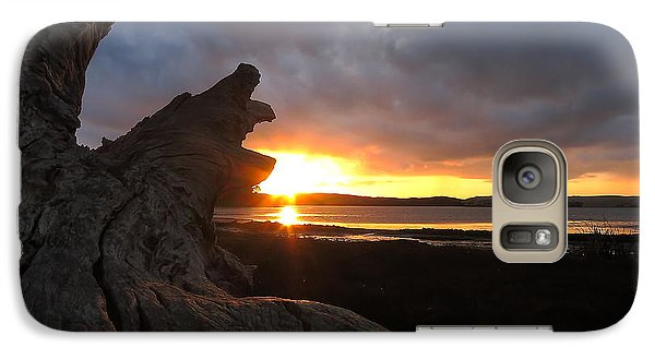 Galaxy Case featuring the photograph Los Osos Driftwood by Paul Foutz