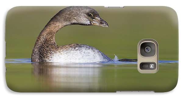 Galaxy Case featuring the photograph Loss-neck Grebe by Bryan Keil