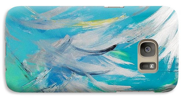 Galaxy Case featuring the painting Lost At Sea by PainterArtist FIN