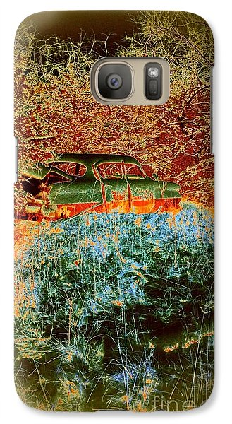 Galaxy Case featuring the photograph Lost Car by Karen Newell