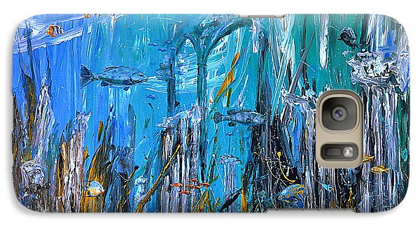 Galaxy Case featuring the painting Lost City by Arturas Slapsys