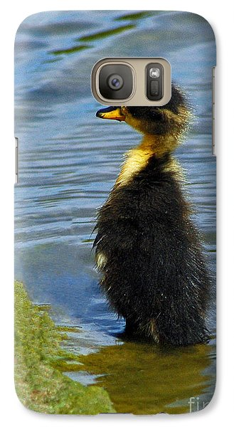 Galaxy Case featuring the photograph Lost Duckling by Olivia Hardwicke