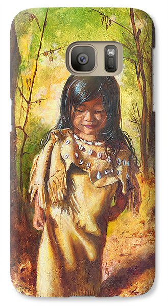 Galaxy Case featuring the painting Lost In The Woods by Karen Kennedy Chatham