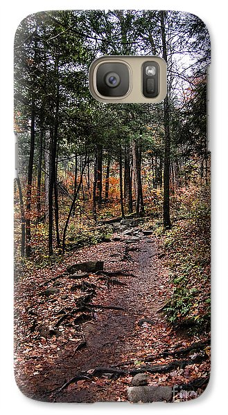 Galaxy Case featuring the photograph Lost In Thought On The Blue Ridge Parkway Trail by Debbie Green
