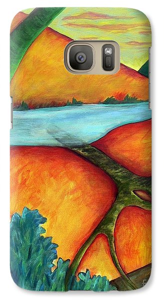 Galaxy Case featuring the painting Lost Land 1 by Elizabeth Fontaine-Barr