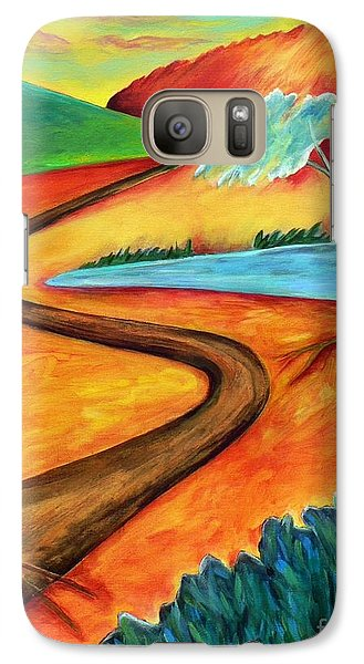 Galaxy Case featuring the painting Lost Land 2 by Elizabeth Fontaine-Barr