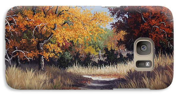 Galaxy Case featuring the painting Lost Maples Trail by Kyle Wood