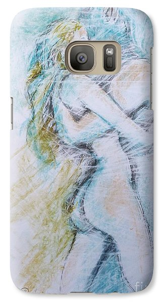 Galaxy Case featuring the drawing Lost On A Man by Marat Essex