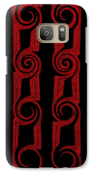 Galaxy Case featuring the painting Lost Tribes by Roz Abellera Art