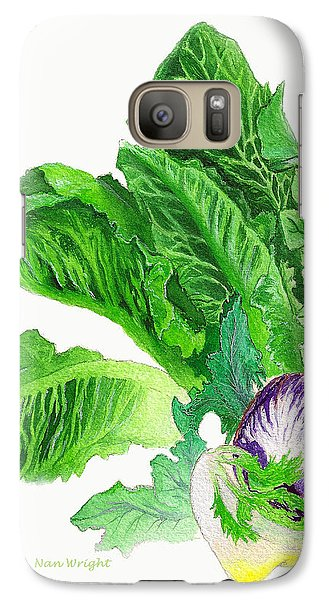 Galaxy Case featuring the painting Lots Of Greens by Nan Wright