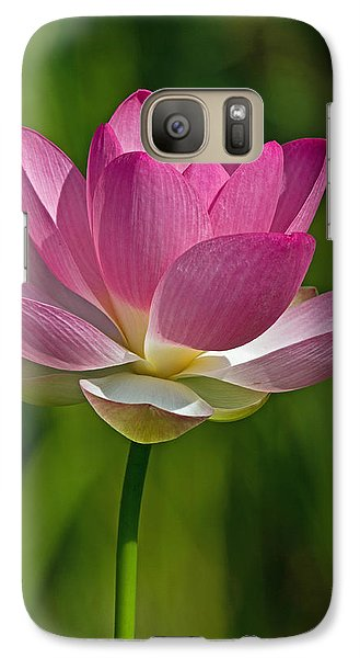 Galaxy Case featuring the photograph Lotus Bloom by Jerry Gammon