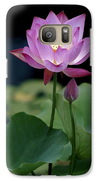 Galaxy Case featuring the photograph Lotus Blossom by Penny Lisowski