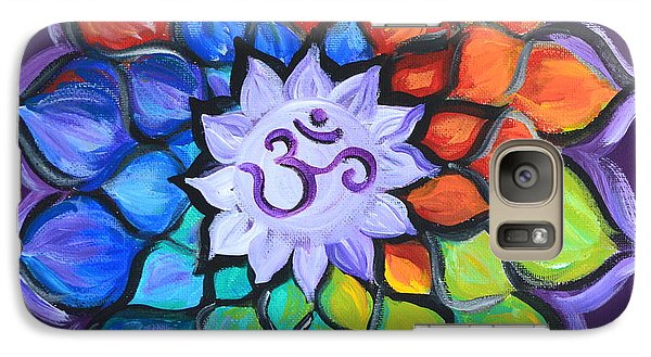 Galaxy Case featuring the painting Lotus Flower by Agata Lindquist