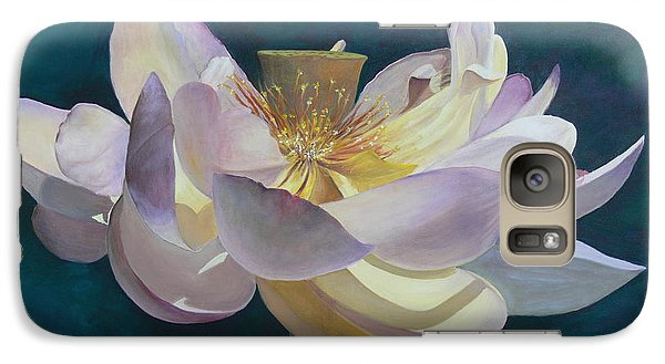 Galaxy Case featuring the painting Lotus Flower by Catherine Hamill