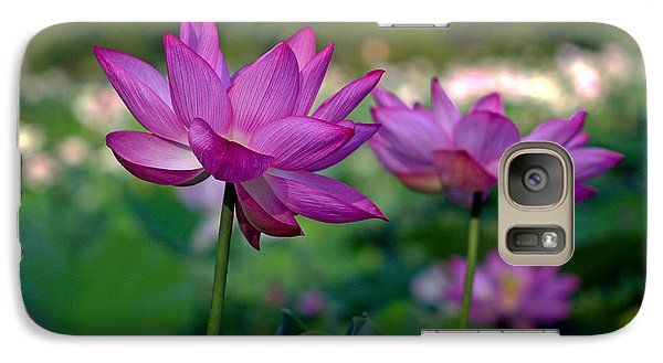 Galaxy Case featuring the photograph Lotus Flowers by Jerry Gammon