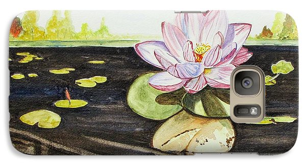 Galaxy Case featuring the painting Lotus Fun by Kevin F Heuman