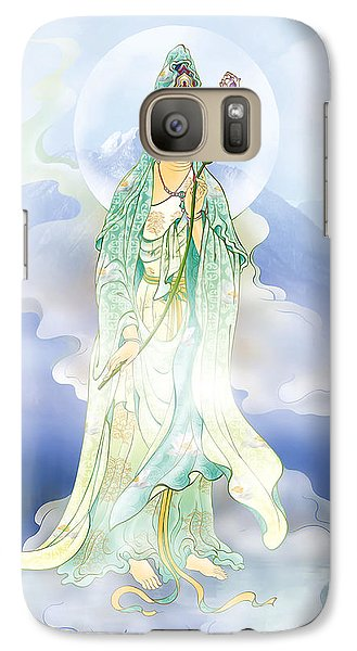Galaxy Case featuring the photograph Lotus-holding Kuan Yin by Lanjee Chee