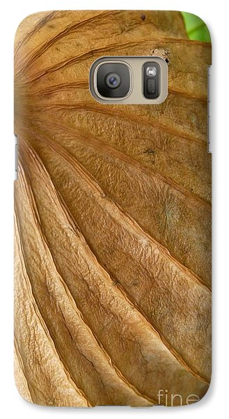 Galaxy Case featuring the photograph Lotus Leaf by Jane Ford