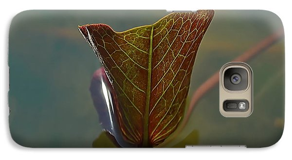 Galaxy Case featuring the photograph Lotus Leaf by Michelle Meenawong