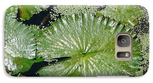 Galaxy Case featuring the photograph Lotus Leaves by Nora Boghossian