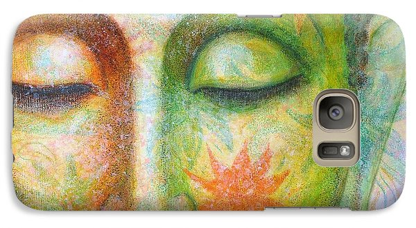 Galaxy Case featuring the painting Lotus Meditation Buddha by Sue Halstenberg