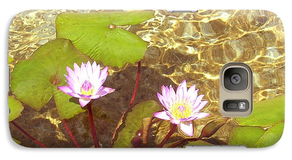 Galaxy Case featuring the photograph Lotus by Mini Arora
