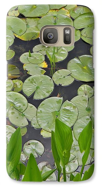 Galaxy Case featuring the photograph Lotus Pads by Jean Goodwin Brooks