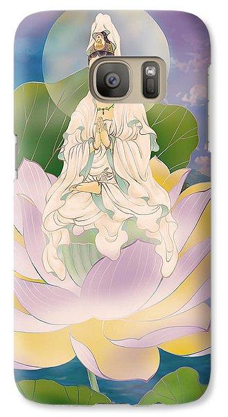 Galaxy Case featuring the photograph Lotus-sitting Avalokitesvara  by Lanjee Chee