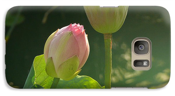 Galaxy Case featuring the photograph Lotus Soft by Evelyn Tambour