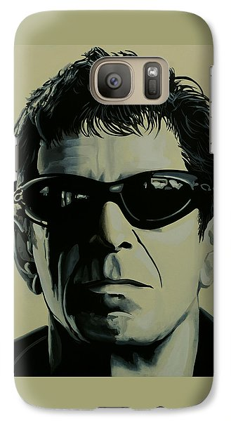 Rock And Roll Galaxy S7 Case - Lou Reed Painting by Paul Meijering