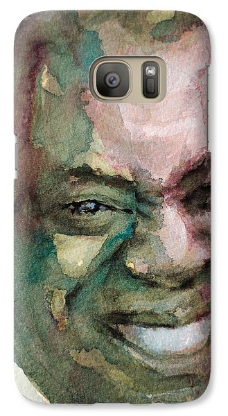 Galaxy Case featuring the painting Louis Armstrong by Laur Iduc
