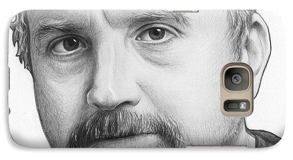 Louis Ck Portrait Galaxy S7 Case by Olga Shvartsur