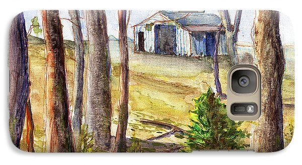 Galaxy Case featuring the painting Louisiana Barn Through The Trees by Lenora  De Lude