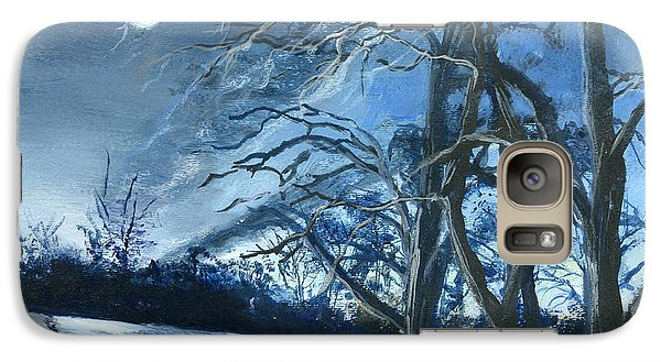 Galaxy Case featuring the painting Louisiana Pasture In Winter by Lenora  De Lude