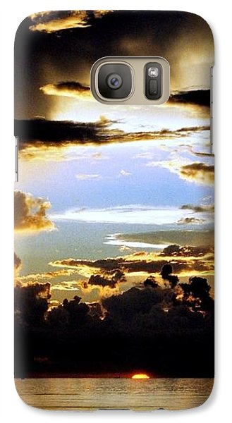 Galaxy Case featuring the photograph Louisiana Sunset Blue In The Gulf  Of Mexico by Michael Hoard