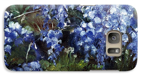 Galaxy Case featuring the painting Louisiana Wisteria by Lenora  De Lude