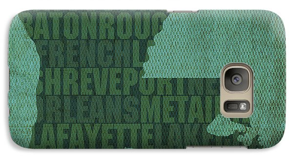 Louisiana Word Art State Map On Canvas Galaxy Case by Design Turnpike