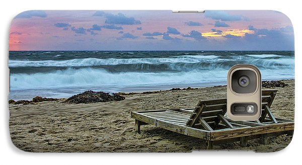 Galaxy Case featuring the photograph Loungers On The Beach by Don Durfee